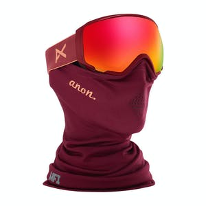 Anon WM1 MFI Asian Fit Women's Snowboard Goggle 2020 - Ruby / Sonar Red + Spare Lens