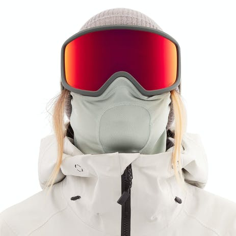 Anon Deringer MFI Women's Snowboard Goggle 2021 - Grey / Perceive Sunny Red + Spare Lens
