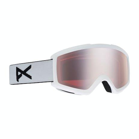 Anon Helix 2.0 Snowboard Goggle 2021 - White / Silver + Spare Lens