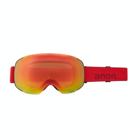 Anon M2 Asian Fit Snowboard Goggle 2021 - Red Tort / Perceive Sunny Red + Spare Lens