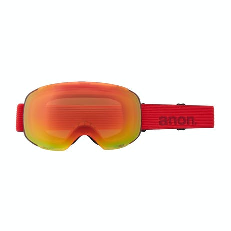 Anon M2 Asian Fit MFI Snowboard Goggle 2021 - Red Tort / Perceive Sunny Red + Spare Lens