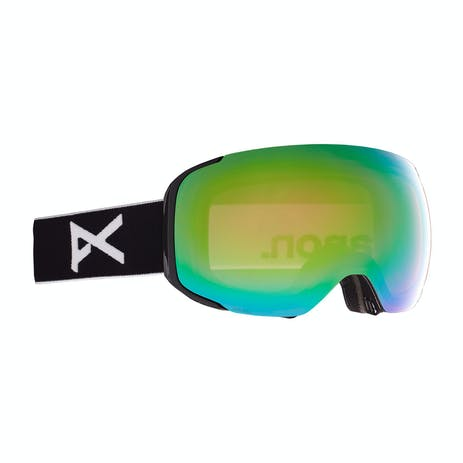 Anon M2 MFI Snowboard Goggle 2021 - Black / Perceive Variable Green + Spare Lens