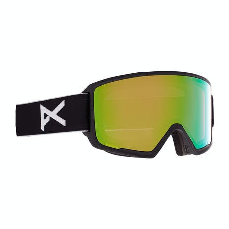 Anon M3 Asian Fit Snowboard Goggle 2021 - Black / Perceive Variable Green + Spare Lens