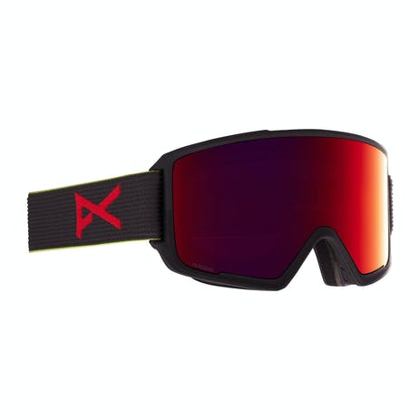 Anon M3 MFI Snowboard Goggle 2021 - Black Pop / Perceive Sunny Red + Spare Lens