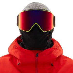 Anon M4 Asian Fit Cylindrical Snowboard Goggle 2021 - Black Pop / Perceive Sunny Red + Spare Lens