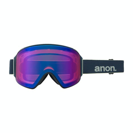 Anon M4 Cylindrical MFI Snowboard Goggle 2021 - Blue / Perceive Sunny Onyx + Spare Lens