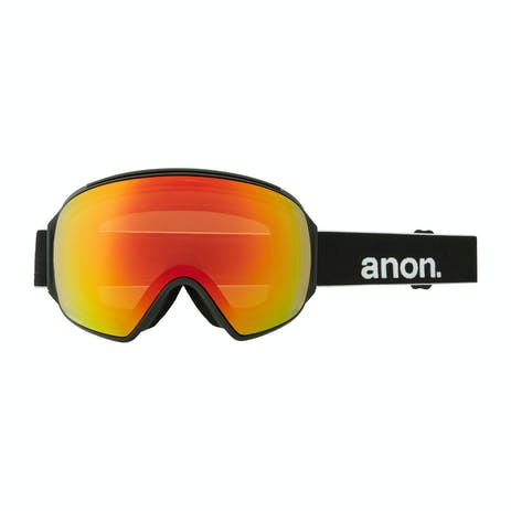 Anon M4 Toric MFI Snowboard Goggle 2021 - Black / Perceive Sunny Red + Spare Lens