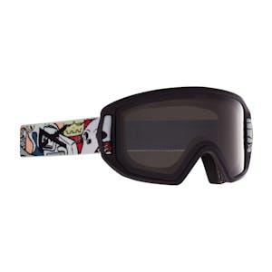 Anon Relapse Jr. MFI Youth Snowboard Goggle 2021 - Crazy Black / Smoke