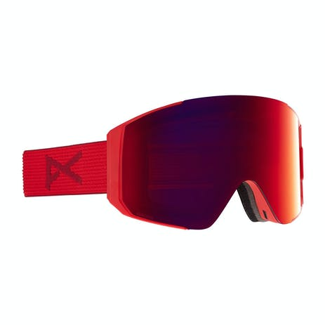Anon Sync Snowboard Goggle 2021 - Red / Perceive Sunny Red + Spare Lens