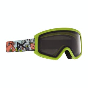 Anon Tracker Youth Snowboard Goggle 2021 - Bot Green / Smoke