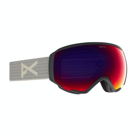 Anon WM1 MFI Women's Snowboard Goggle 2021 - Grey / Perceive Sunny Red + Spare Lens