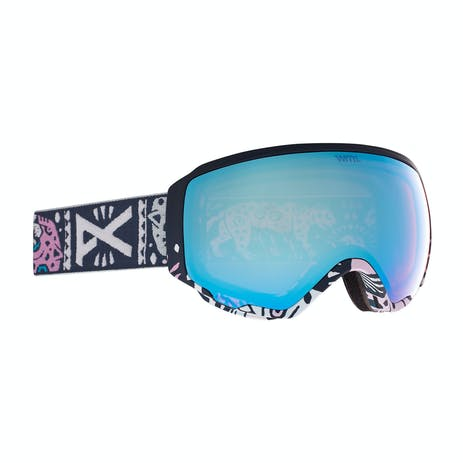 Anon WM1 MFI Women's Snowboard Goggle 2021 - Noom / Perceive Variable Blue + Spare Lens
