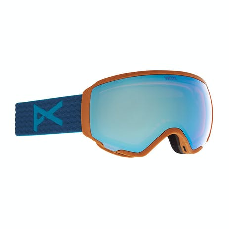 Anon WM1 Women's Snowboard Goggle 2021 - Blue / Perceive Variable Blue + Spare Lens