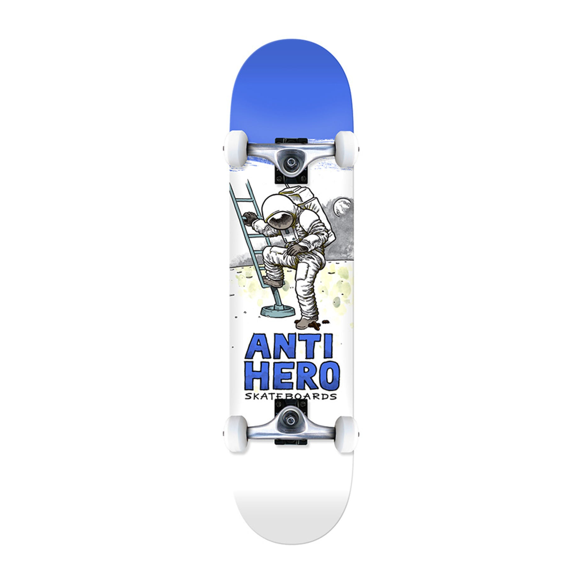 Antihero Moon Landing 775 Complete Skateboard Blue