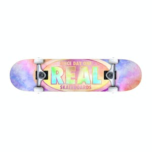 "Real Oval Tie Dyes 7.75"" Complete Skateboard"
