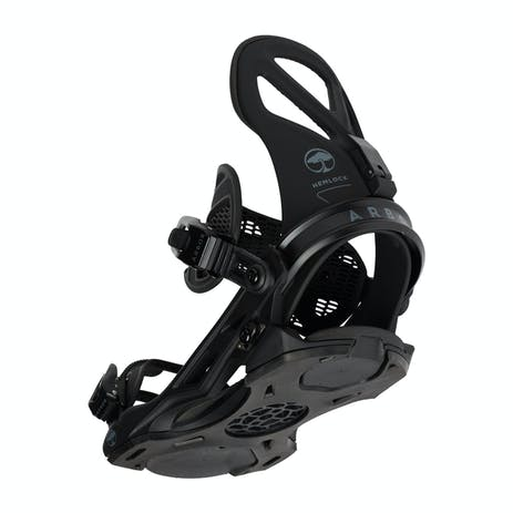 Arbor Hemlock Snowboard Bindings 2021 - Black