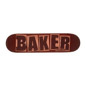 """Baker Steamer Brand Name 8.125"""" Skateboard Deck - Brick"""