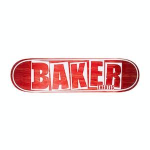 """Baker Theotis Brand Name 8.5"""" Skateboard Deck - Red"""