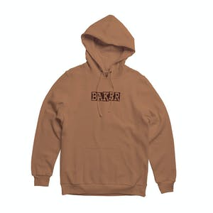 Baker Ribbon Embroidered Hoodie - Brown