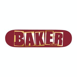 """Baker Rowan Brand Name 8.38"""" Skateboard Deck - Red Foil"""