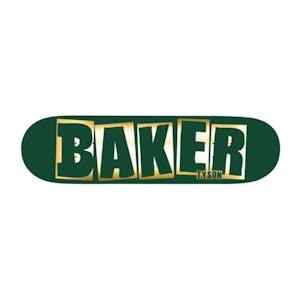 """Baker Tyson Brand Name 8.0"""" Skateboard Deck - Green Foil"""
