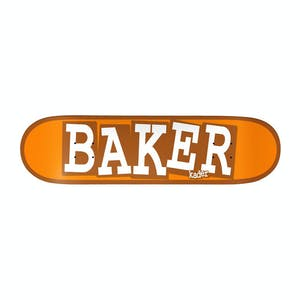 "Baker Kader Ribbon Name 8.125"" Skateboard Deck - Orange"