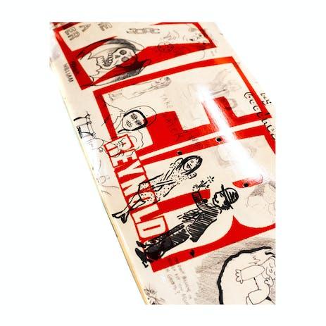 """Baker Reynolds Brand Name Doodles 8.0"""" Skateboard Deck"""