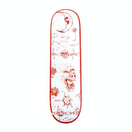 """Baker Reynolds Lunacy 8.5"""" Skateboard Deck - Red"""