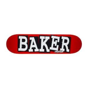 """Baker Reynolds Ribbon Name 8.25"""" Skateboard Deck - Red/White"""