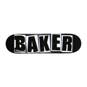 "Baker OG Logo 8.0"" Skateboard Deck - Black/White"