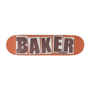 """Baker Rowan Brand Name 8.25"""" Skateboard Deck - Rust"""