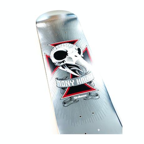"""Birdhouse Hawk Skull II 7.75"""" Skateboard Deck - Chrome"""