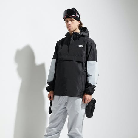 BLAK Anorec Snowboard Jacket 2020 - Black/Grey