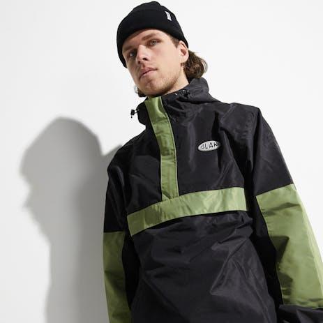 BLAK Anorec Snowboard Jacket 2020 - Black/Green