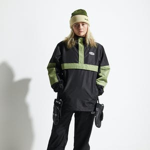 BLAK Anorec Snowboard Jacket 2020 - Black/Green