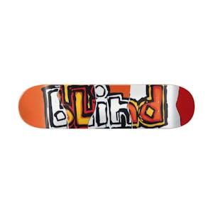 """Blind OG Ripped 8.25"""" Skateboard Deck - Red/Orange"""