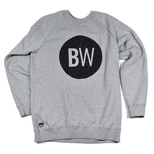 BOARDWORLD Speckled Black Circle Crew — Grey