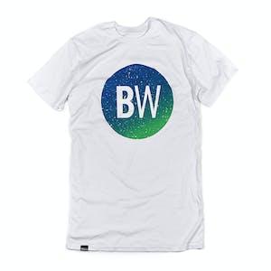 BOARDWORLD Blue/Green Circle Tall Tee - White