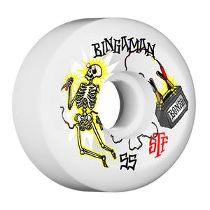 Bones STF Bingaman Zapped Sidecuts 55mm Skateboard Wheels