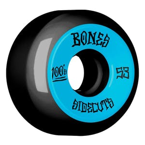 Bones 100's 53mm V5 Skateboard Wheels - Black/Blue