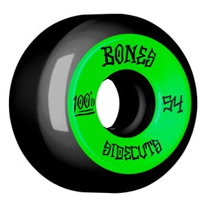 Bones 100's 54mm V5 Skateboard Wheels - Black/Green