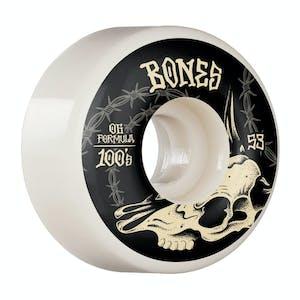 Bones 100's V4 Skateboard Wheels - Desert Skull