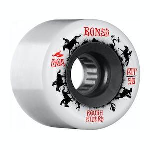 Bones ATF Rough Rider Wrangler Skateboard Wheels - White