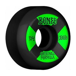 Bones 100's V5 54mm Skateboard Wheels - Black/Green