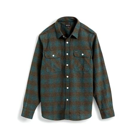 Brixton Bowery Flannel Shirt - Ocean