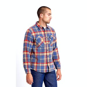 Brixton Bowery Flannel Shirt - Blue/Red