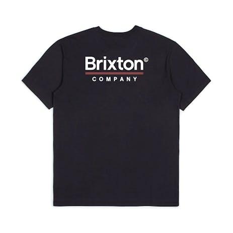 Brixton Palmer Line T-Shirt - Worn Wash Black