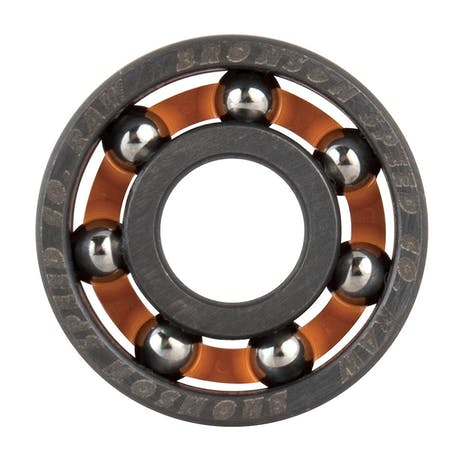 Bronson Raw Shieldless Skateboard Bearings
