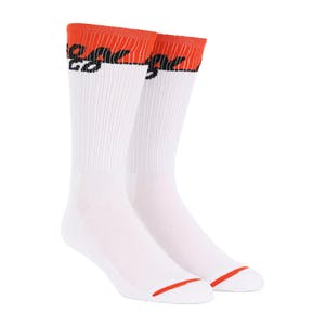 Bronson Starting Line Crew Socks - White