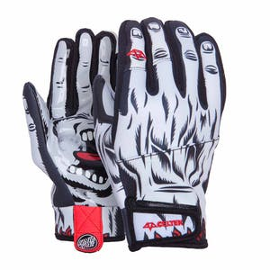 Celtek x Santa Cruz Misty Men's Snowboard Gloves - White Screaming Hand
